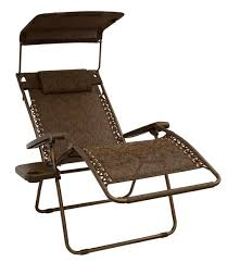 bliss hammocks gravity free chair x wide with sun shade and cup tray jacquard cocoa brown