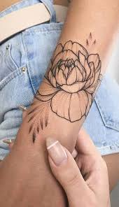 Simple Geometric Rose Arm Tattoo Ideas For Women Wwwmybodiartcom