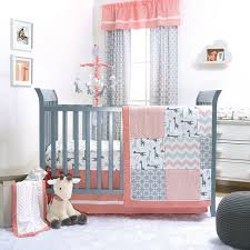 rosewater in peach full crib bedding set girl nursery fl ba with regard to attractive house crib bedding sets girl decor