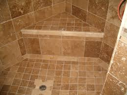 ceramic tile for bathroom floors: bathroom shower tile ceramic design have stainless steel drain with siphon