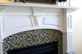 subway tile fireplace surround glass mosaic ideas