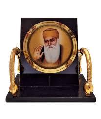 bulb centre sikh idol guru nanak temple chair frame for car dashboard