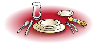 dinner table setting clipart. pin setting clipart dinner table #6 l