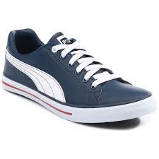 puma men s synthetic leather casual shoes navy casual shoes for footwear home18 com