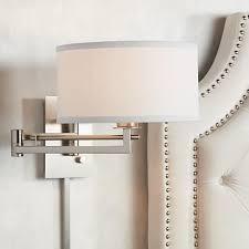 wall lighting for bedroom. possini euro aluno plugin style swing arm wall light m9450 lighting for bedroom