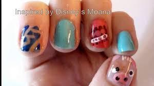 Disney's Moana Inspired Nail Art - YouTube