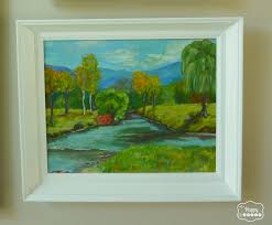 thrifted oil painting ocean single at thehappyhousie thrifted oil painting river at thehappyhousie