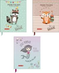 Brunnen Freundebuch Kinder Be Brave Waschbär Fuchs Mermaid Auswahl
