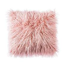 blush colored pillows. Plain Colored OJIA Deluxe Home Decorative Super Soft Plush Mongolian Faux Fur Throw Pillow  Cover Cushion Case 18 X 18 Inch Pink Intended Blush Colored Pillows O