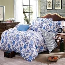 fl sheets queen dream elegant fl bedding set polyester cotton bed linen sets bedspreads q size blue duvet cover bed sheet set in bedding sets from