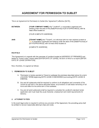 Sublease Agreement Samples Sublet Template Rome Fontanacountryinn Com