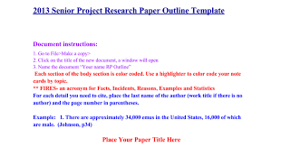 senior project research paper outline template google docs