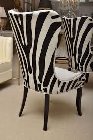 set of eight zebra stenciled cowhide dining chairs for at 1stdibs