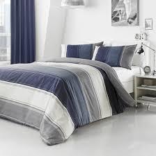 betley blue striped duvet cover sets uk