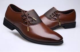 men s business formal shoes wedding comfortable tip top leather shoes brown wool 42