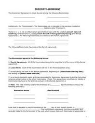 Roommate Agreement Template 09 | Apartment Marketing | Pinterest ...