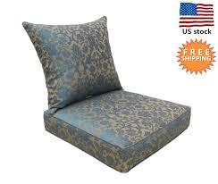 patio chair cushion outdoor chair cushion patio deep seat high back pad set blue brown home depot patio chair cushion covers