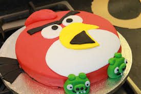 How to Make an Angry Birds Cake