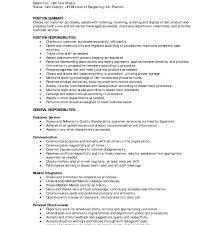 Assembler Job Description For Resume Cashier Duties And Responsibilities Resume Retail Inside Jobption 67