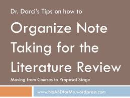 Organize Note Taking for the Literature Review No ABD  All But Dissertation  for Me    WordPress com