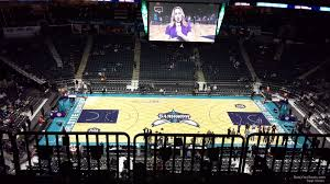 Charlotte Hornets Interactive Seating Chart Spectrum Center Section 209 Charlotte Hornets