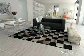 8x10 cowhide rug faux