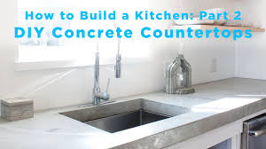 Diy Kitchen Countertops Diy Concrete Countertops Part 2 Of The Total Diy Kitchen Series