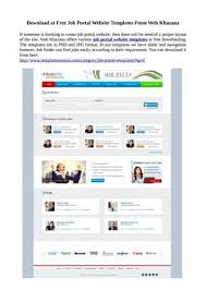 Free Downloads Web Templates Download At Free Job Portal Website Templates From Web