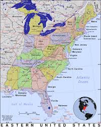 eastern united states · public domain maps by pat the free open