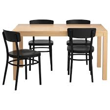 black furniture ikea. Affordable Bjursta Idolf Table And Chairs Ikea Birch Dining Pe With Extensible Black Furniture