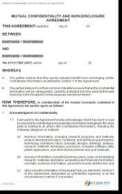 Mutual Confidentiality Agreement mutual agreement template mutual confidentiality or non disclosure 25