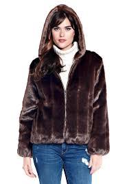 sable hooded faux fur parka 1