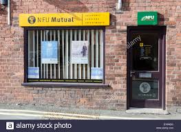 nfu mutual office in welshpool powys stock image