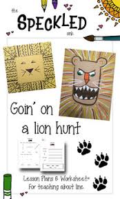 Elementary Art Lesson Plans Elementary Art Lesson Plans Lion Hunt Drawing With Line
