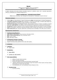 Resume Format For Professionals - Ecza.solinf.co