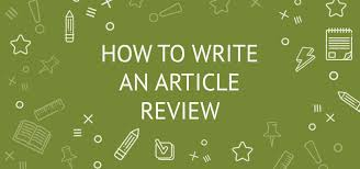 how to write an article review in a few