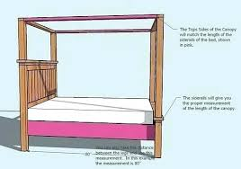 Canopy Bed Frame Twin Wood Canopy Bed Frame – isbaconference.org