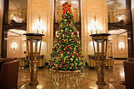 office holiday decor. grand ballroom holiday decorations office lobby decor sleigh and winter tree display hotel d
