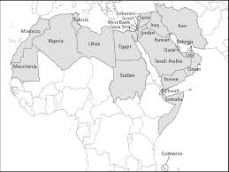 best photos of labeled map of the middle east  north africa