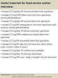 top 8 food service cashier resume samples food server job description
