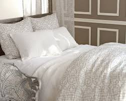 new from pine cone hill veena grey duvet cover and shams seyces white quilt
