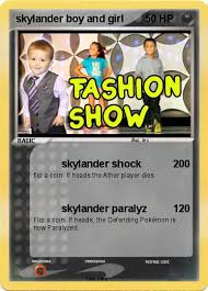 Small Picture Pokmon skylander boy and girl 3 3 skylander shock My Pokemon Card