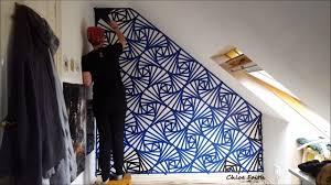 geometric wall paintGeometric Wall Art Paint  Chloe Faith  YouTube