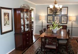 chair rail painted the same color as the walls dining room designed by mary strong