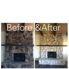 smlf painting cast stone fireplace