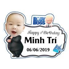 Biển tên sinh nhật cho bé trai
