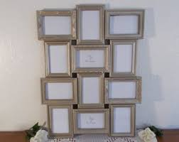 Gold Wedding Seating Chart With Easel Collage Frame Ornate