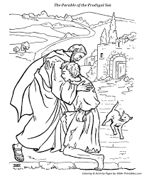 the prodigal son coloring pages. Fine Pages The Parables Of Jesus Coloring Pages With Prodigal Son E