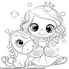 Printable princess and unicorn coloring page. Cute Unicorn And Princess Coloring Sheet Unicorn Coloring Pages Princess Coloring Sheets Princess Coloring Pages