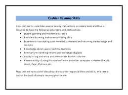 Cashier Skills And Qualities Celoyogawithjoco Amazing Cashier Skills To Put On A Resume